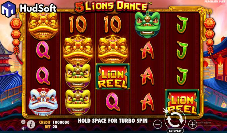 Cách chơi 5 Lions Dance