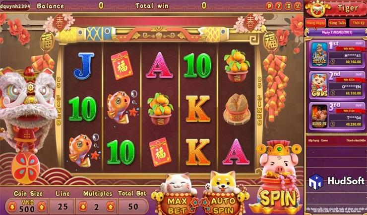 Hướng dẫn cách chơi Fortune New Year Slot